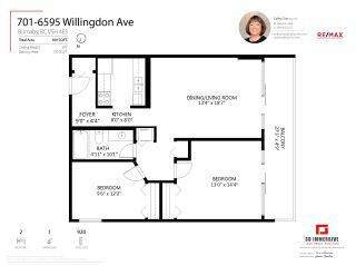 Photo 19: 701 6595 WILLINGDON AVENUE in Burnaby: Metrotown Condo for sale (Burnaby South)  : MLS®# R2586990