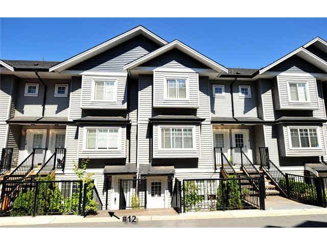 "Main Photo: 12 11255 132 Street in Surrey: Bridgeview Townhouse for sale in ""FRASERVIEW TERRACE"" (North Surrey)  : MLS®# R2054048"