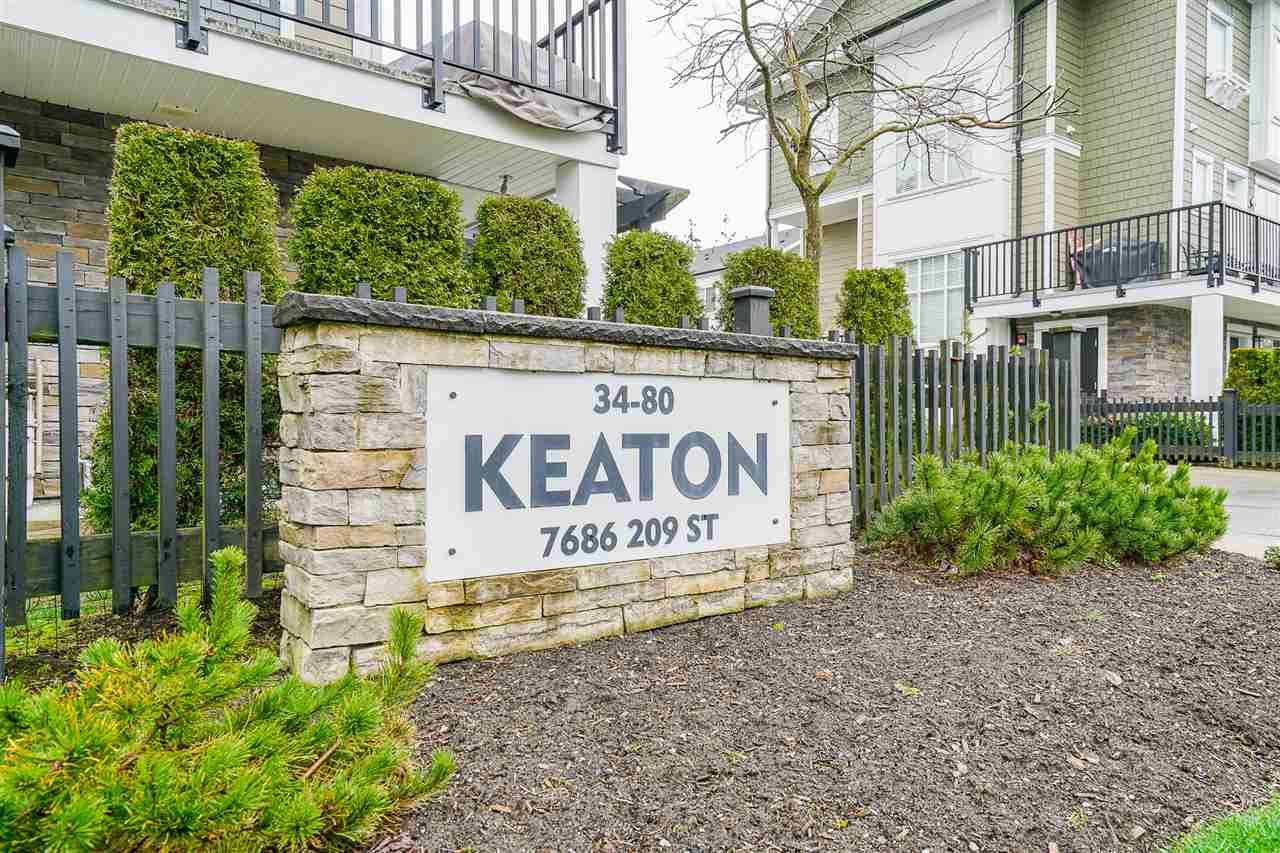 """Main Photo: 65 7686 209 Street in Langley: Willoughby Heights Townhouse for sale in """"Keaton"""" : MLS®# R2555516"""