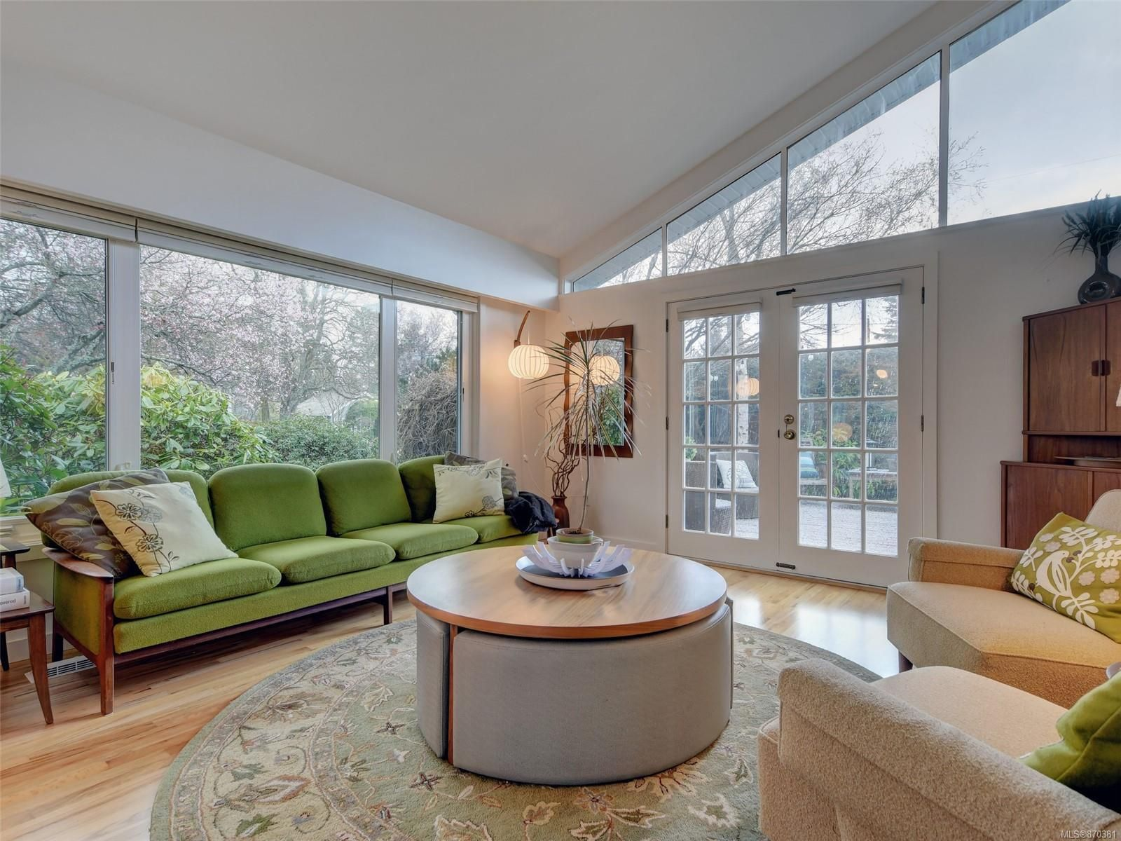 Living room has lots of natural light