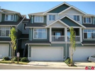 """Photo 1: 6 6785 193RD Street in Surrey: Clayton Townhouse for sale in """"Madrona"""" (Cloverdale)  : MLS®# F1204482"""
