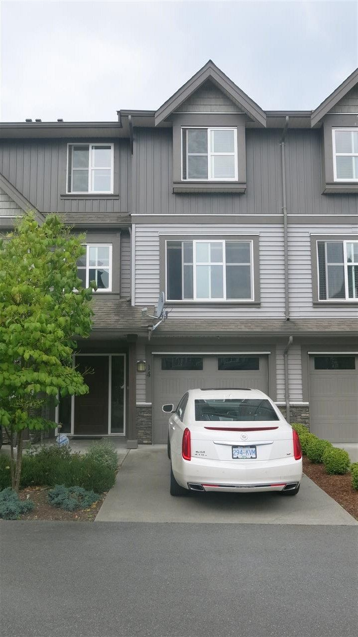 Main Photo: 14 45085 WOLFE Road in Chilliwack: Chilliwack W Young-Well Townhouse for sale : MLS®# R2093289