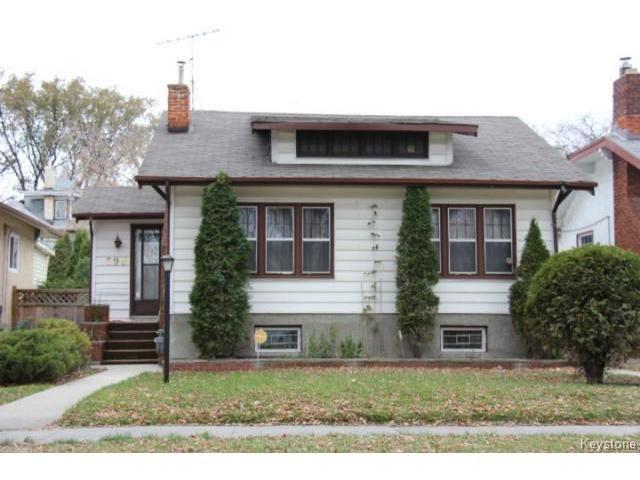 Main Photo: 590 Ingersoll Street in WINNIPEG: West End / Wolseley Residential for sale (West Winnipeg)  : MLS®# 1324239