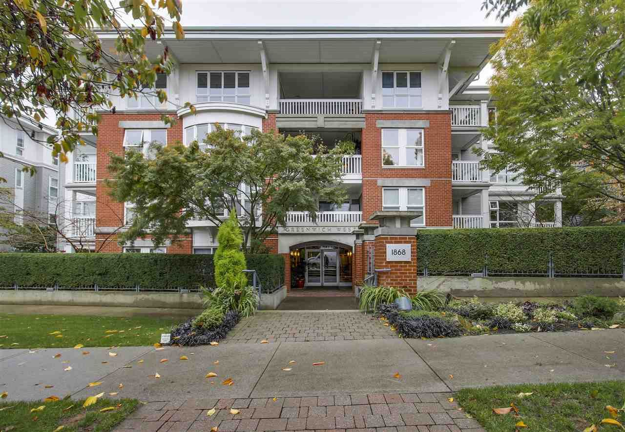 "Main Photo: 110 1868 W 5TH Avenue in Vancouver: Kitsilano Condo for sale in ""Greenwich"" (Vancouver West)  : MLS®# R2122472"
