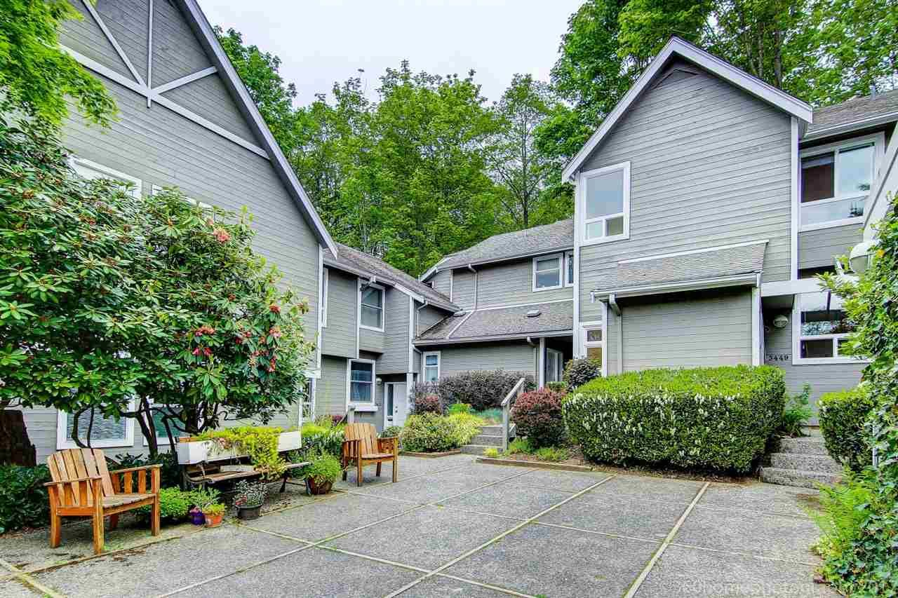 """Main Photo: 3449 WEYMOOR Place in Vancouver: Champlain Heights Townhouse for sale in """"MOORPARK"""" (Vancouver East)  : MLS®# R2168309"""
