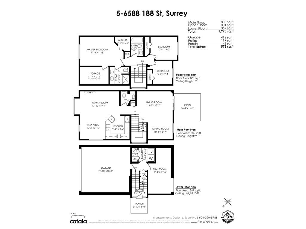 """Photo 3: Photos: 5 6588 188 Street in Surrey: Cloverdale BC Townhouse for sale in """"HILLCREST PLACE"""" (Cloverdale)  : MLS®# R2532394"""