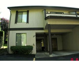 """Photo 1: 22 32925 GEORGE FERGUSON Way in Abbotsford: Central Abbotsford Townhouse for sale in """"WOODBROOK TERRACE"""" : MLS®# F2920652"""