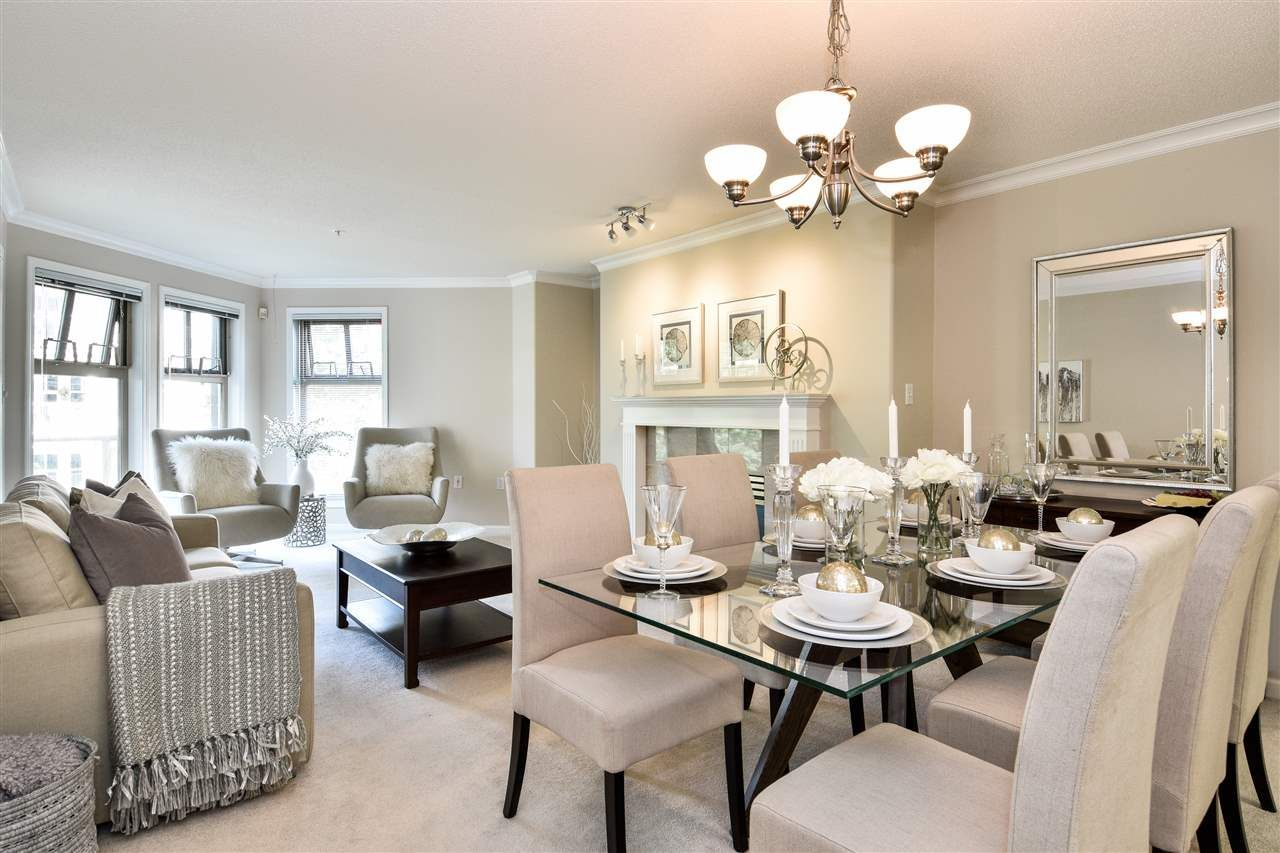 Dining and living rooms