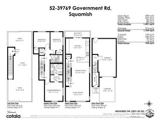 """Photo 40: 52 39769 GOVERNMENT Road in Squamish: Northyards Townhouse for sale in """"BREEZE"""" : MLS®# R2583791"""