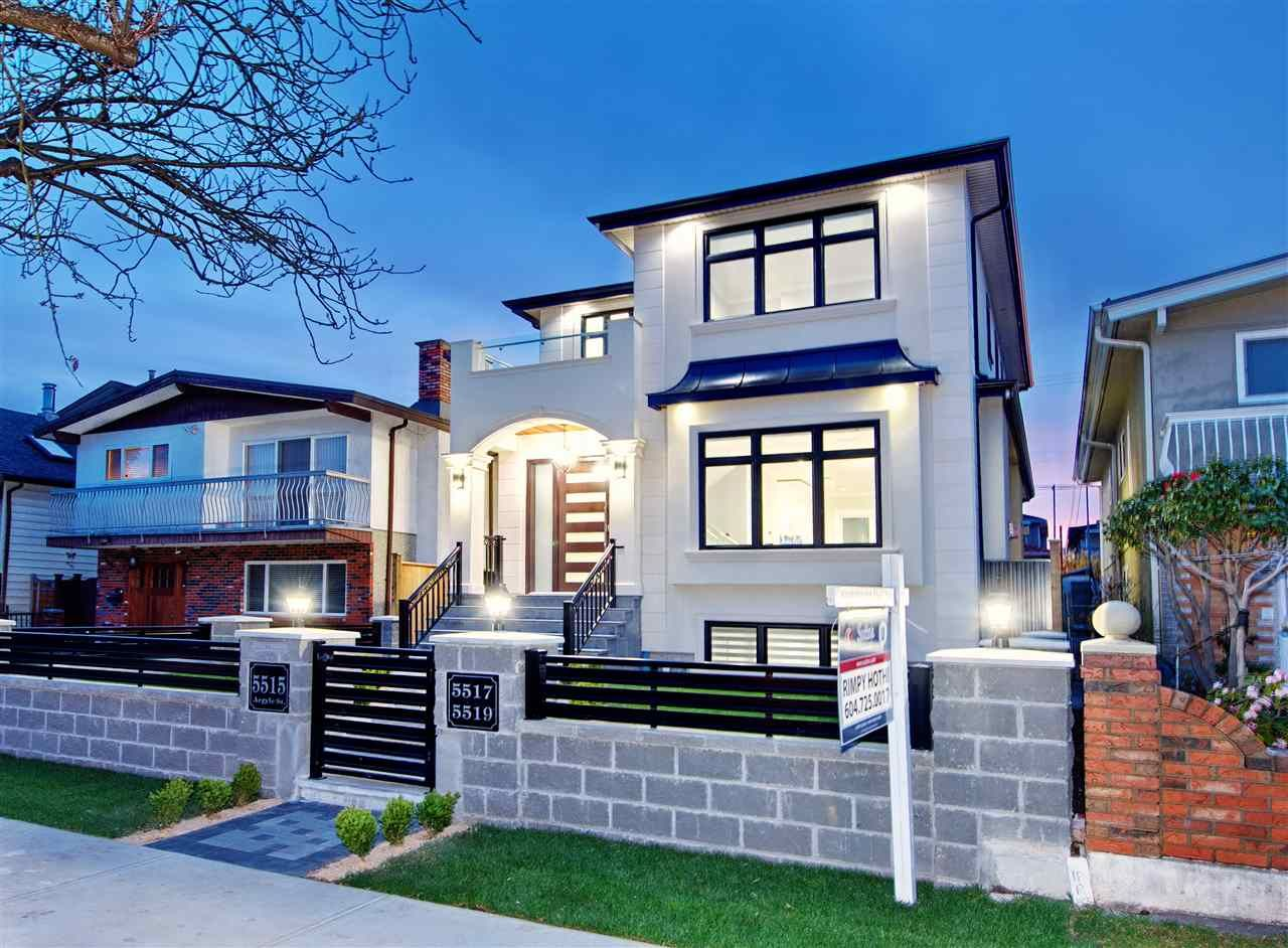 Main Photo: 5515 ARGYLE Street in Vancouver: Knight House for sale (Vancouver East)  : MLS®# R2353399