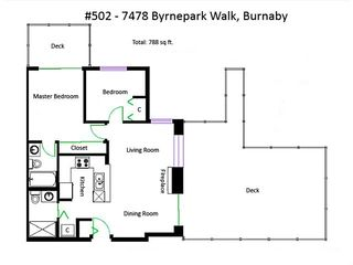 "Photo 14: 502 7478 BYRNEPARK Walk in Burnaby: South Slope Condo for sale in ""GREEN"" (Burnaby South)  : MLS®# R2021457"