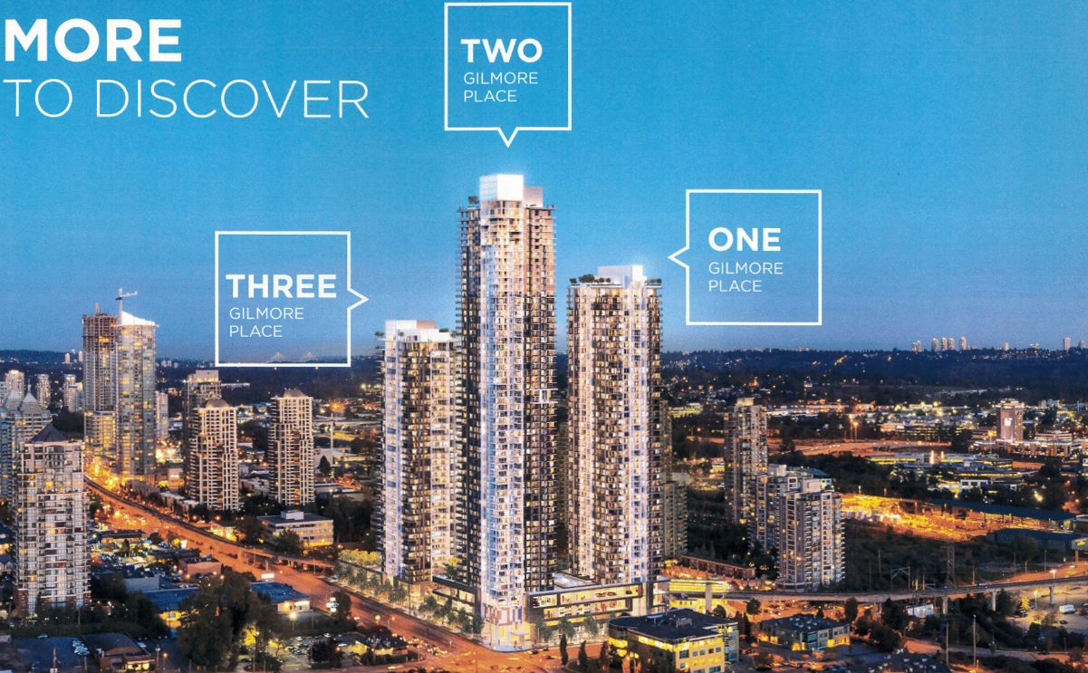 Main Photo: Gilmore-Place-4168-Lougheed-Hwy-Burnaby-Tower 3