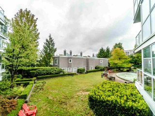 """Photo 1: 210 8450 JELLICOE Street in Vancouver: South Marine Condo for sale in """"THE BOARDWALK"""" (Vancouver East)  : MLS®# R2406380"""