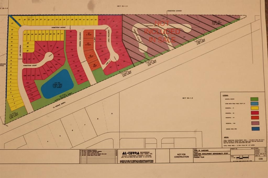 Main Photo: 10 Avenue N: Carstairs Residential Land for sale : MLS®# A1095318