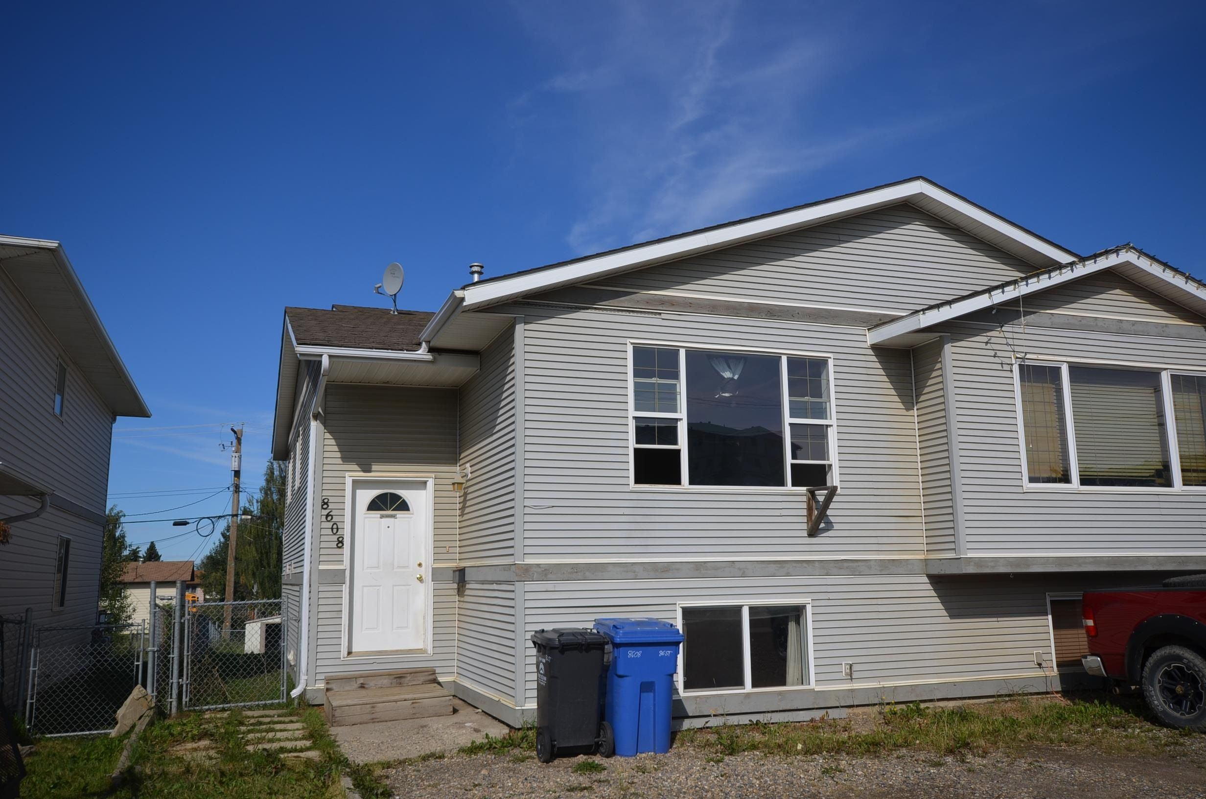 Main Photo: 8608 86 Street in Fort St. John: Fort St. John - City SE 1/2 Duplex for sale (Fort St. John (Zone 60))  : MLS®# R2611732