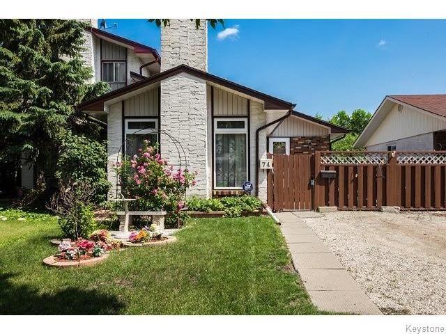 Main Photo: 74 Melonlea Cove in WINNIPEG: North Kildonan Residential for sale (North East Winnipeg)  : MLS®# 1511112