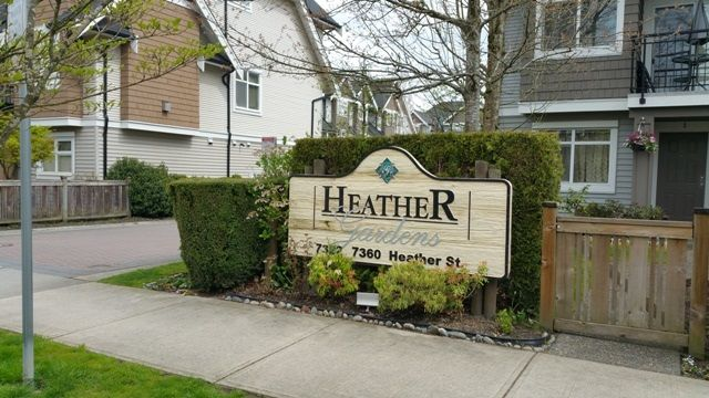 """Main Photo: 14 7322 HEATHER Street in Richmond: McLennan North Townhouse for sale in """"HEATHER GARDENS"""" : MLS®# R2157016"""
