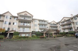 """Photo 1: 201 2491 GLADWIN Road in Abbotsford: Abbotsford West Condo for sale in """"Lakewood Gardens"""" : MLS®# R2517289"""