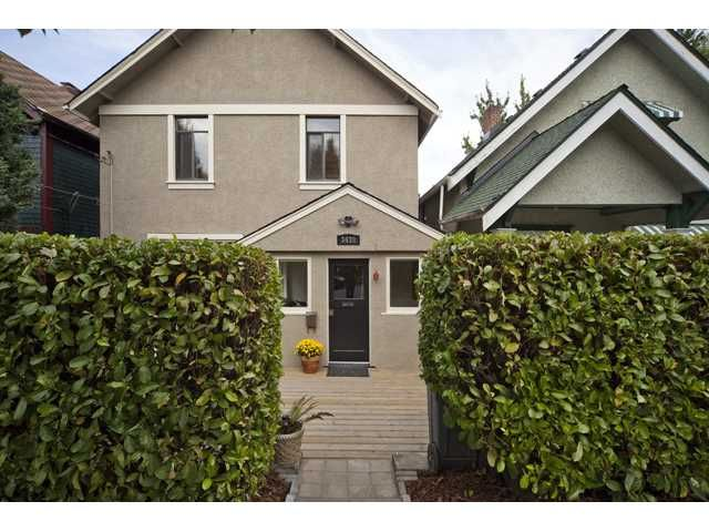 """Main Photo: 3438 SOPHIA ST in Vancouver: Main House for sale in """"MAIN"""" (Vancouver East)  : MLS®# V909063"""