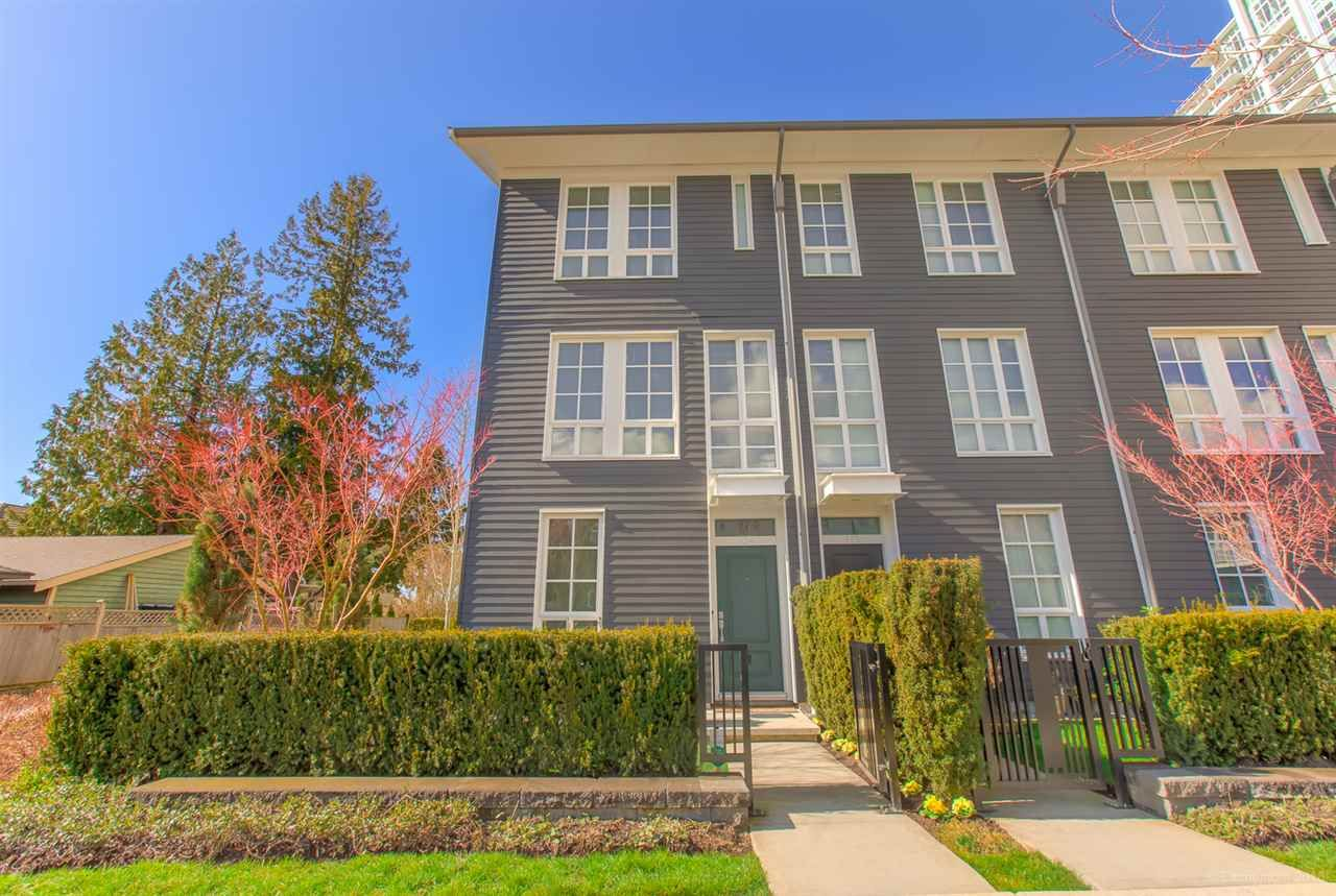 """Main Photo: 124 528 FOSTER Avenue in Coquitlam: Coquitlam West Townhouse for sale in """"BLACK & WHITE"""" : MLS®# R2453802"""