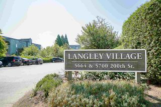 "Photo 1: 308 5664 200 Street in Langley: Langley City Condo for sale in ""LANGLEY VILLAGE"" : MLS®# R2561853"