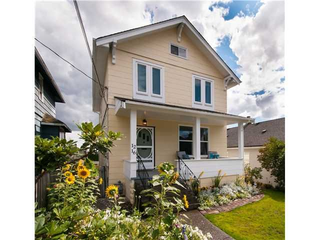Main Photo: 1216 HAMILTON ST in New Westminster: West End NW House for sale : MLS®# V988435