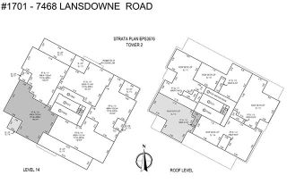 """Photo 4: 1701 7468 LANSDOWNE Road in Richmond: Brighouse Condo for sale in """"CADENCE"""" : MLS®# R2548436"""