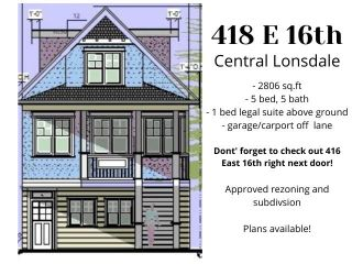 Photo 2: 418 E 16TH Street in North Vancouver: Central Lonsdale House for sale : MLS®# R2590916