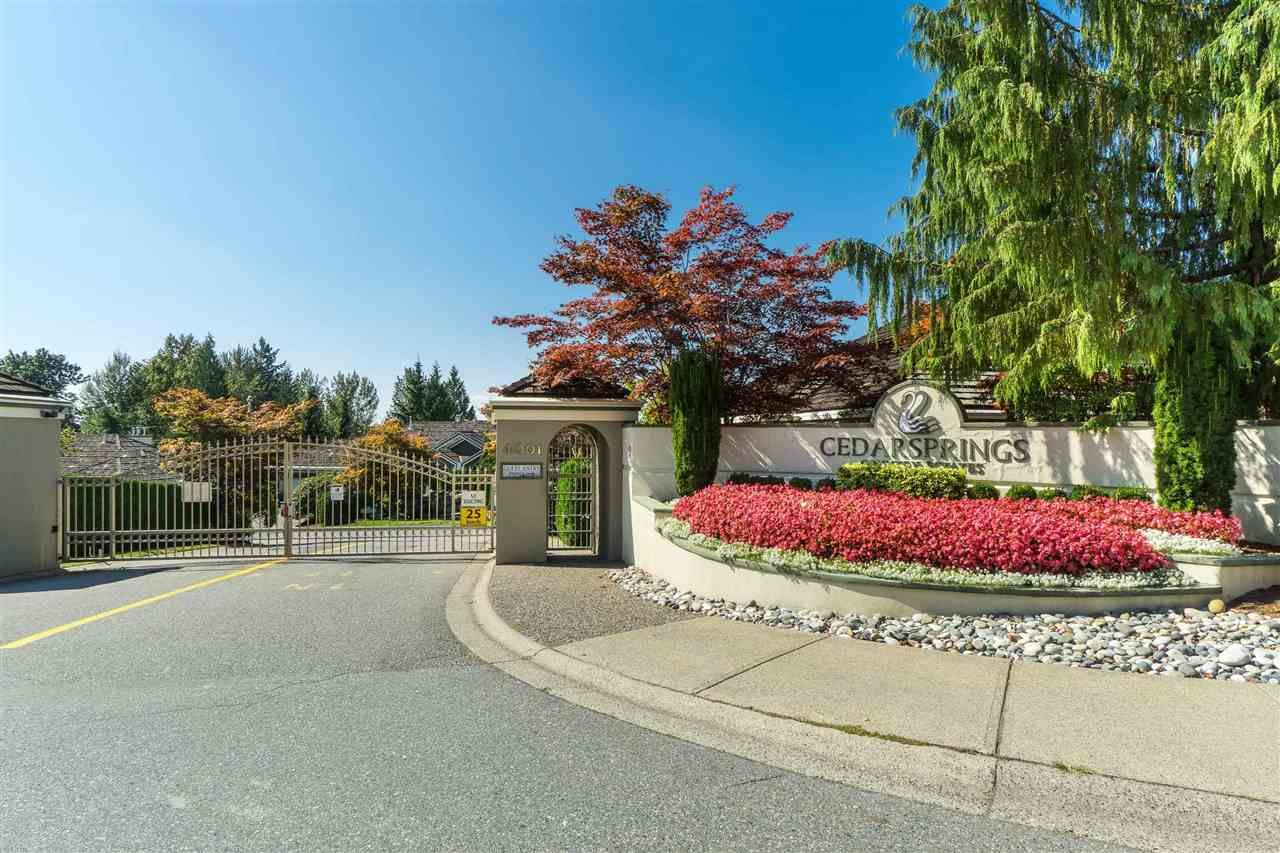 """Photo 1: Photos: 62 4001 OLD CLAYBURN Road in Abbotsford: Abbotsford East Townhouse for sale in """"CEDAR SPRINGS"""" : MLS®# R2513100"""