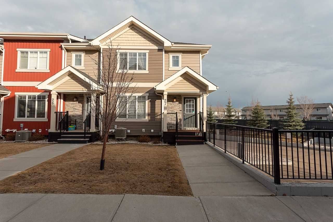 Main Photo: 27 675 ALBANY Way in Edmonton: Zone 27 Townhouse for sale : MLS®# E4237540