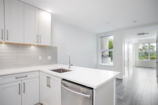 """Photo 2: 104 217 CLARKSON Street in New Westminster: Downtown NW Townhouse for sale in """"Irving Living"""" : MLS®# R2591819"""