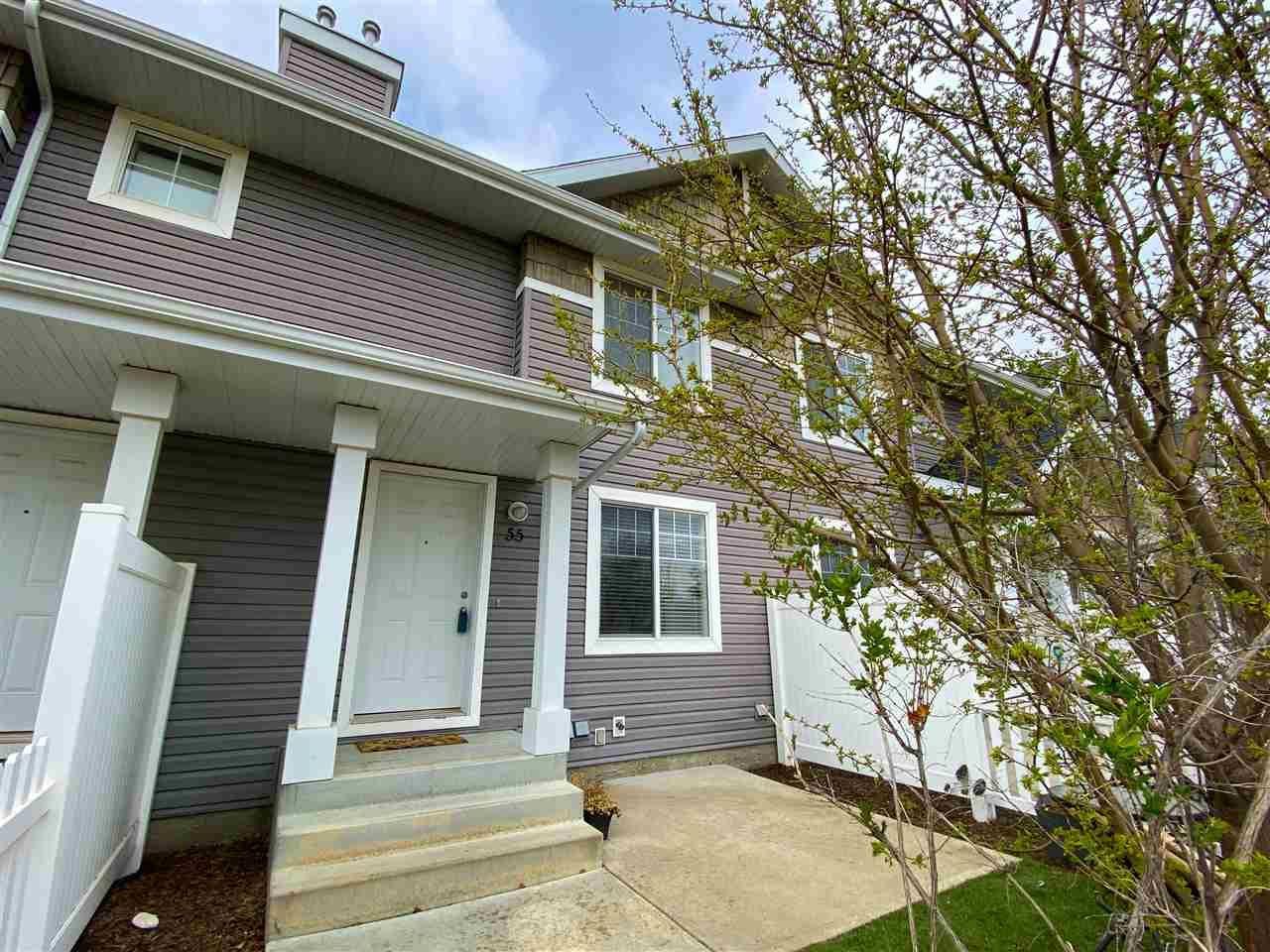 Main Photo: 55 3075 TRELLE Crescent in Edmonton: Zone 14 Townhouse for sale : MLS®# E4242100
