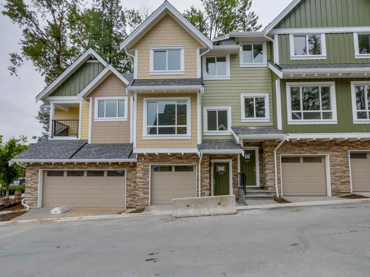 """Main Photo: 106 1405 DAYTON Avenue in Coquitlam: Burke Mountain Townhouse for sale in """"ERICA"""" : MLS®# R2084440"""