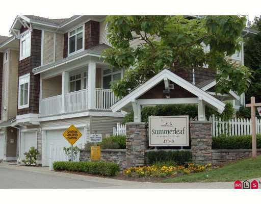 """Main Photo: 57 15030 58TH Avenue in Surrey: Sullivan Station Townhouse for sale in """"Summerleaf"""" : MLS®# F2721119"""