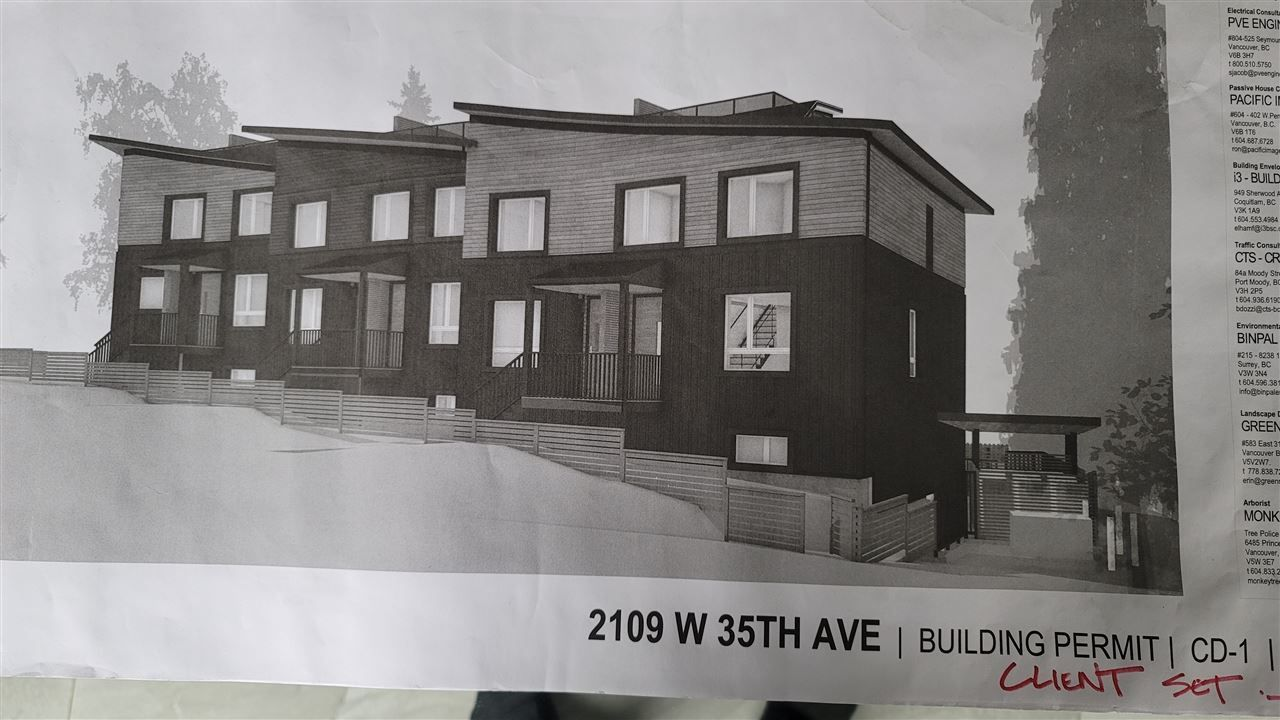 Main Photo: 2109 W 35TH Avenue in Vancouver: Quilchena Land for sale (Vancouver West)  : MLS®# R2515552