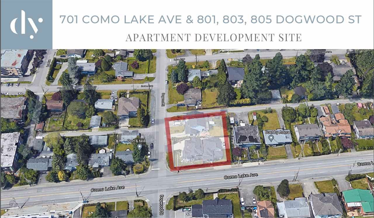 Main Photo: 701 COMO LAKE Avenue in Coquitlam: Coquitlam West Land Commercial for sale : MLS®# C8038351