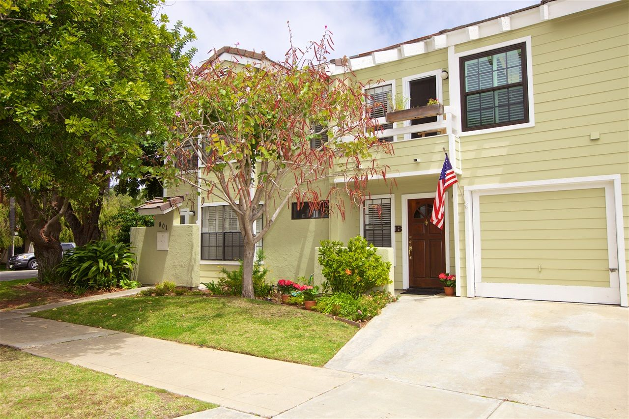 Main Photo: CORONADO VILLAGE Townhouse for rent : 2 bedrooms : 801 G Avenue #B in Coronado