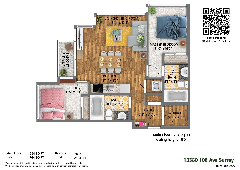 Main Photo: 1308 13380 108 Avenue in Surrey: Whalley Condo for sale (North Surrey)  : MLS®# R2619976