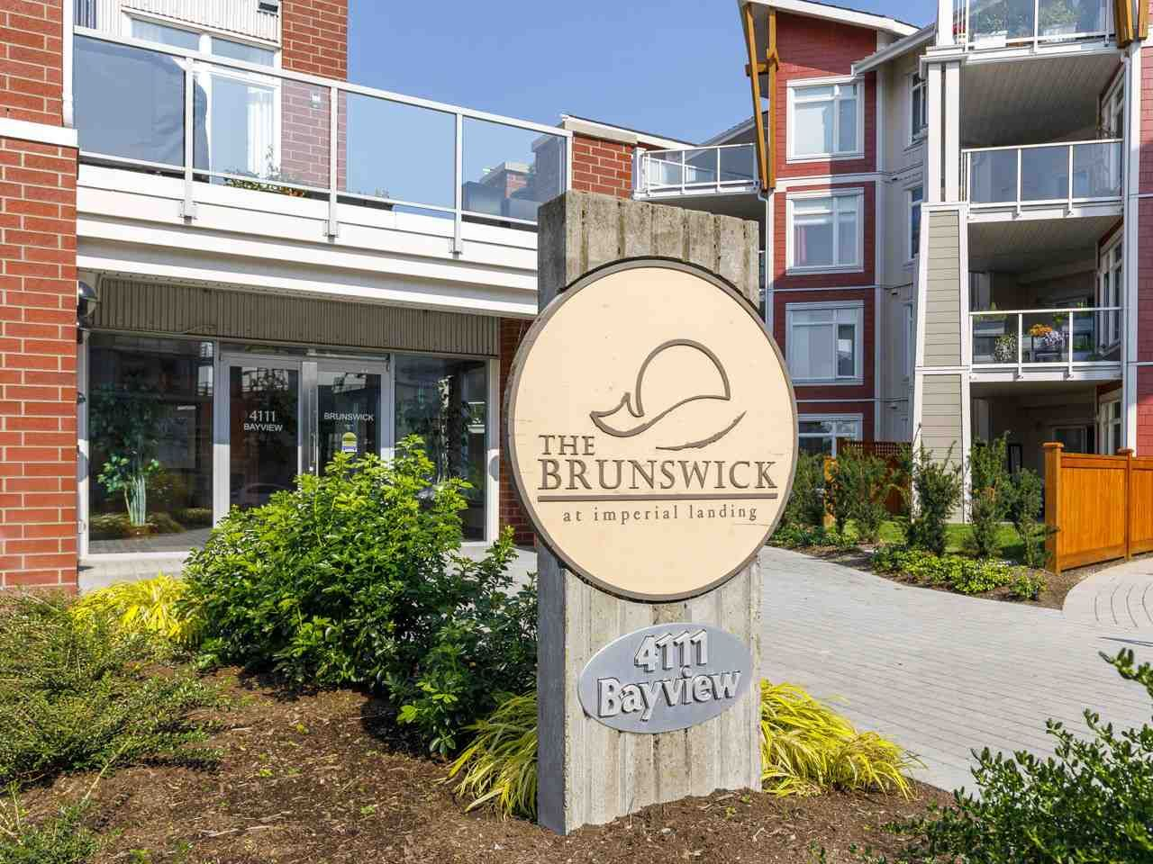"Main Photo: 304 4111 BAYVIEW Street in Richmond: Steveston South Condo for sale in ""THE BRUNSWICK AT THE VILLAGE"" : MLS®# R2505017"