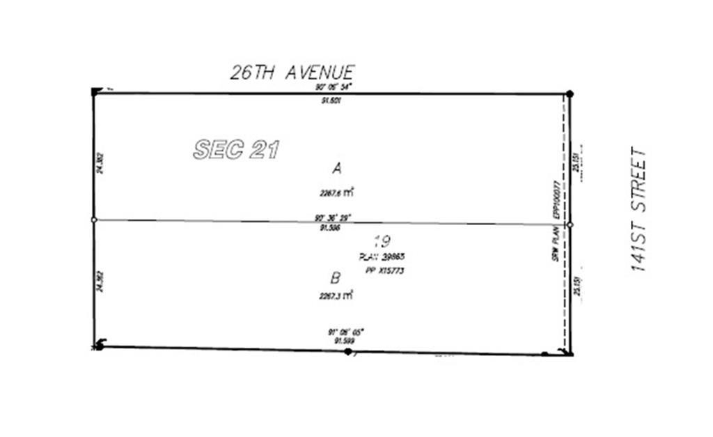 Main Photo: LOT B 2585 141 Street in Surrey: Sunnyside Park Surrey Land for sale (South Surrey White Rock)  : MLS®# R2600590