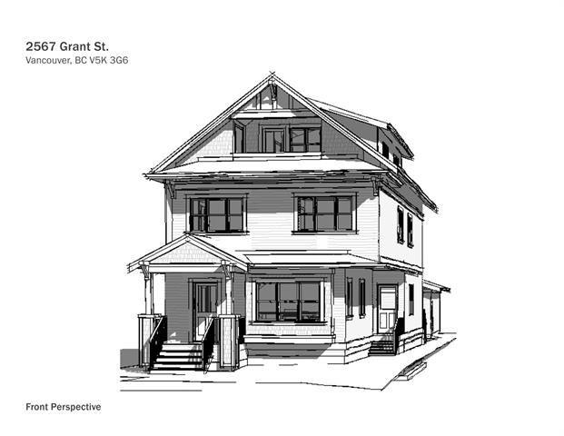 Main Photo: 2567 Grant Street in Vancouver: Renfrew VE 1/2 Duplex for sale (Vancouver East)  : MLS®# R2538220