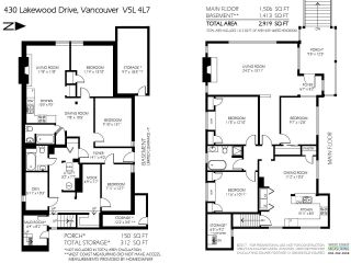 Photo 2: 430 LAKEWOOD Drive in Vancouver: Hastings House for sale (Vancouver East)  : MLS®# R2481266