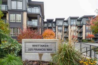 """Photo 1: 318 225 FRANCIS Way in New Westminster: Fraserview NW Condo for sale in """"The Whittaker"""" : MLS®# R2543018"""