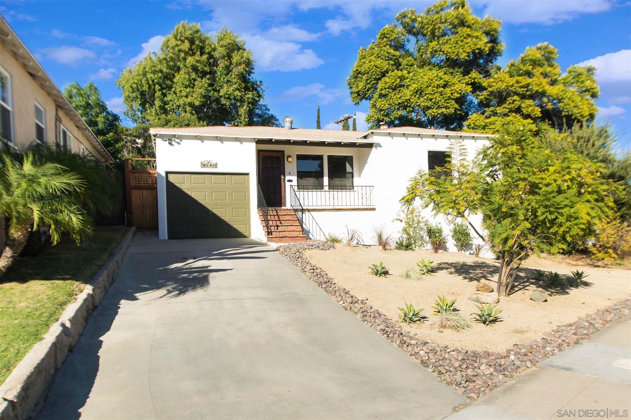 Main Photo: SAN DIEGO House for sale : 2 bedrooms : 5848 VALE WAY