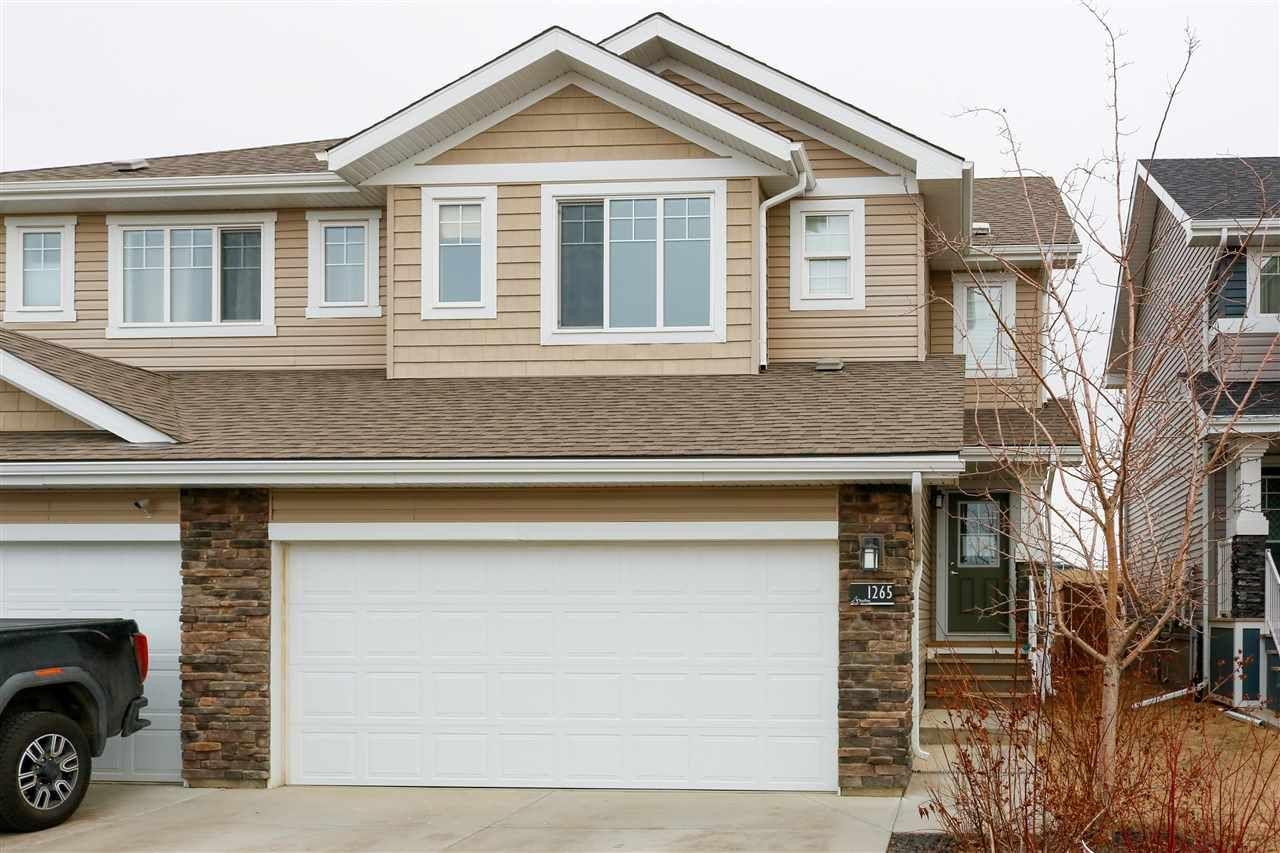 Main Photo: 1265 STARLING Drive in Edmonton: Zone 59 House Half Duplex for sale : MLS®# E4236287