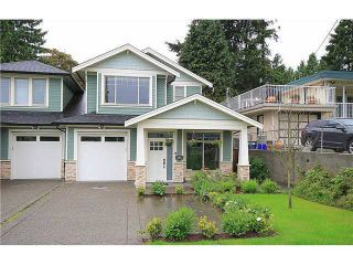Photo 1: 318 BURNS Street in Coquitlam: Coquitlam West 1/2 Duplex for sale : MLS®# V1046054