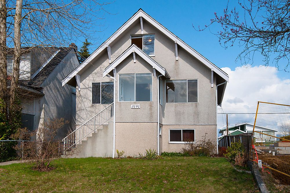 Main Photo: 3191 East 6th Avenue in Vancouver: Home for sale : MLS®# V1054407