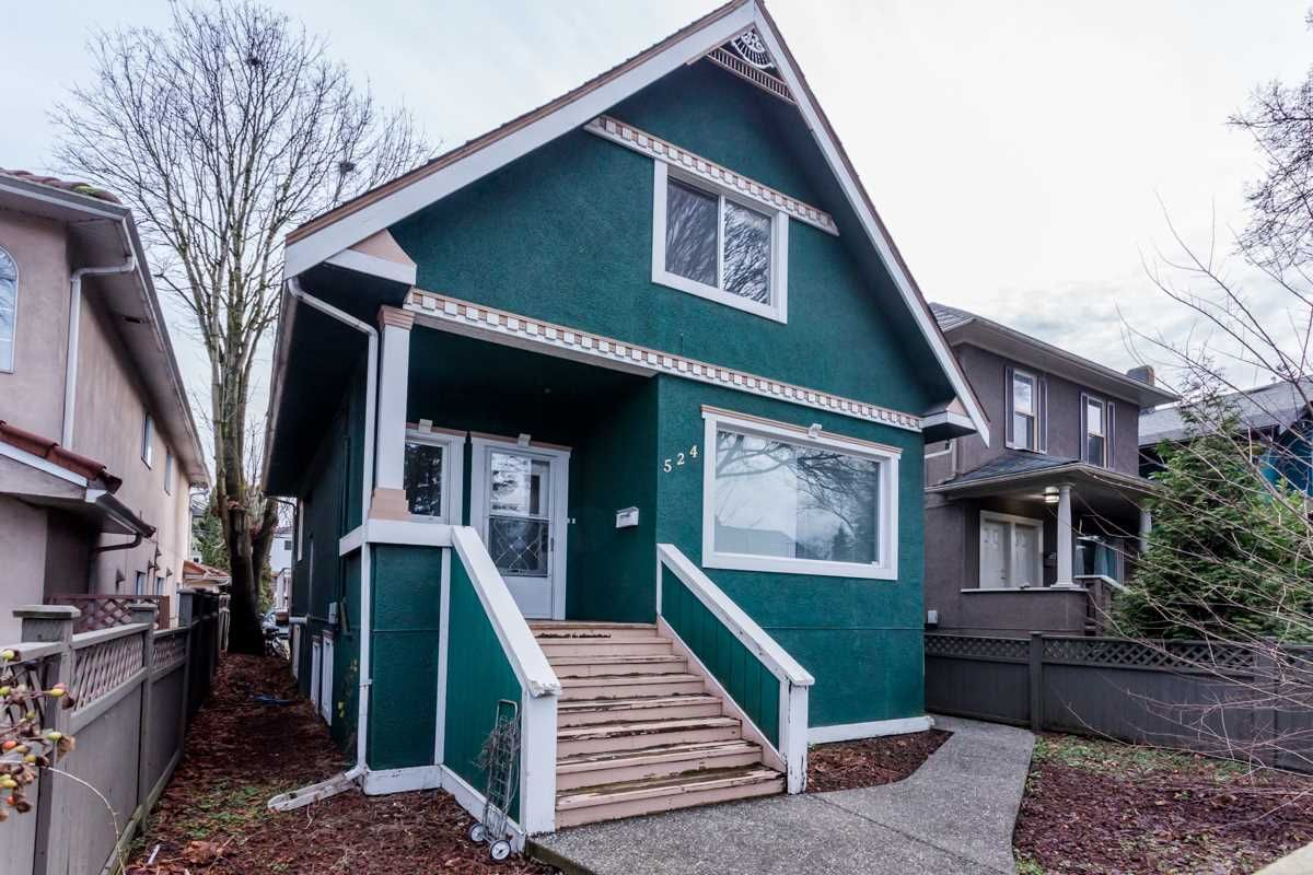 Main Photo: 524 E 12TH Avenue in Vancouver: Mount Pleasant VE House for sale (Vancouver East)  : MLS®# R2235406