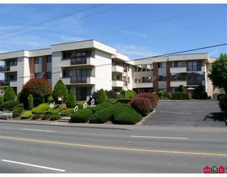 """Photo 1: 202 32885 GEORGE FERGUSON Way in Abbotsford: Central Abbotsford Condo for sale in """"Fairview Manor"""" : MLS®# F2821729"""
