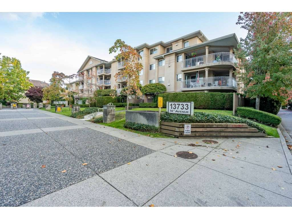 "Main Photo: 309 13733 74 Avenue in Surrey: East Newton Condo for sale in ""Kings Court"" : MLS®# R2511881"
